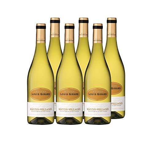 Maison Louis Girard - AOP Mâcon Villages – Chardonnay - Vin blanc - lot de 6 bouteilles x 75cl - Millésime 2019