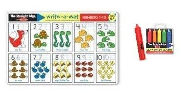 Melissa & Doug Numbers 1-10 Learning Place Mat with Wipe-Off Crayons
