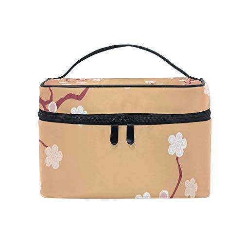 Sac cosmétique avec fermeture à glissière simple couche arbre branche Blossom Voyage stockage sac Portable maquillage Pouch Sac Organizer cas pour les femmes
