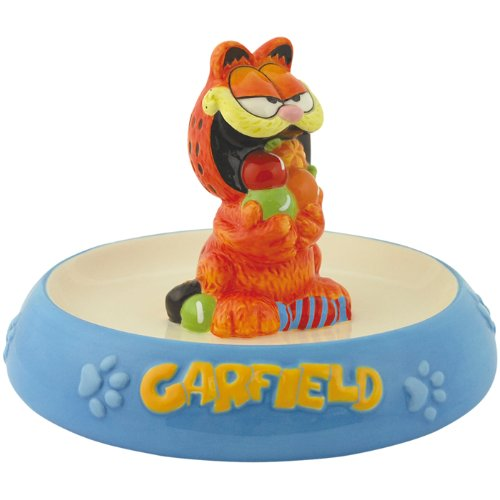 Westland Giftware Garfield Ceramic Candy Dish 4-3/4-Inch Magnetic Salt and Pepper Shakers