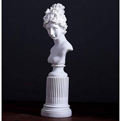 FAE&MGJ Escultura Palacio clásico Retrato Escultura Escritorio decoración estantería exhibición Resina artesanía ajedrez Reina decoración Venus Diosa estatuillas
