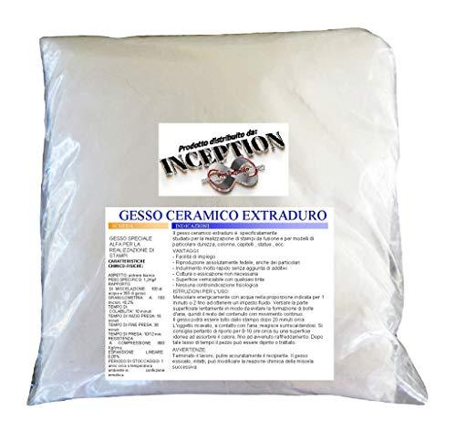 1kg alta qualita gesso ceramico atossico colabile extraduro tipo 4 dentistico - alta definizione e resistenza