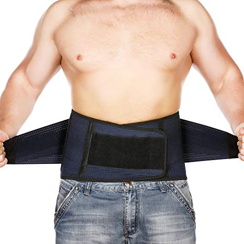 Back Support Lower Back Brace Provides Back Pain Relief - Breathable Lumbar Support Belt for Men and Women Keeps Your Spine Straight and Safe - X-Large Size 46''- 52' at Navel Level