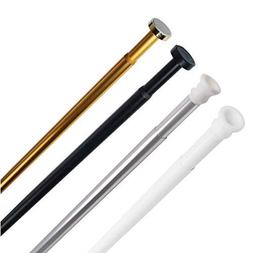 Sanilo Duschvorhangstange 90-160 cm und 120-220 cm, hochwertige Duschstange für Duschvorhang, ohne Bohren (Gold, 90-160 cm)