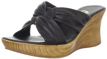 Onex Women s Puffy Wedge Sandal,Black,8 M US