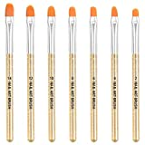 AvoDovA 7PCS Pinceles para Uñas, Set de Cepillo de Esmalte Uñas, Pincel uñas de UV Gel, Cepillo Uñas Pinceles, Nail Art Acrílico Pintura Dibujo Diseño Cepillo, Pinceles de Manicura para Acrílico (A)