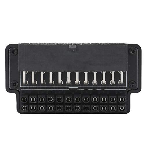 Deansh PC-Mainboard-Netzteil, ATX 24-Pin-Adapter PC-Mainboard-Netzteil 90-Grad-Desktop-Zubehör für Desktop-PC-Netzteil