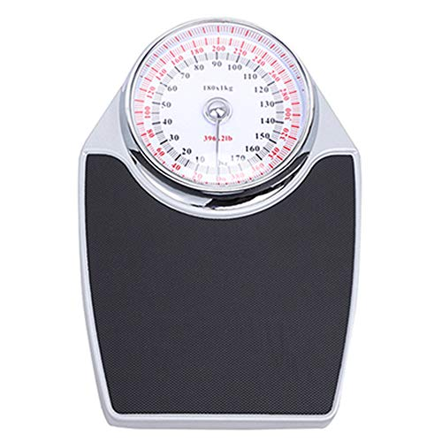 GaoTP Body Weight Scale, Personal Bathroom Scale, Large Dial Mechanical Scale, (Kg, Ib) Easy to Read, High Precision Measurement, Large Capacity 180kg (400lb)