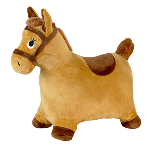 Toy To Enjoy Inflatable Hopping Horse for Toddlers & Kids – Ride On Animal Bouncy Hopper Toy for 3, 4, 5 Year Olds Buys & Girls – Plush Soft Fabric – Pony Rider for Children