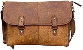 TUZECH Buffalo Leather Bag Stylish Messenger Bag -Fits Laptop Upto (15 Inches)