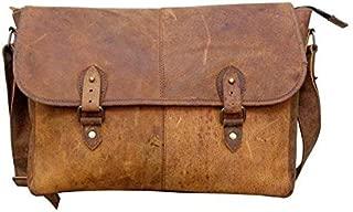 TUZECH Buffalo Leather Bag Stylish Messenger Bag -Fits Laptop Upto (15 Inches)
