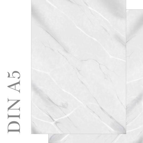 Briefpapier Marmor weiß/grau beidseitig 100 Blatt DIN A5 90 g/m² Achtung DIN A5-5493-A5