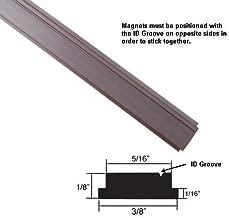 Flexible Magnetic Strip Insert for Framed Swing Shower Doors with 3/8