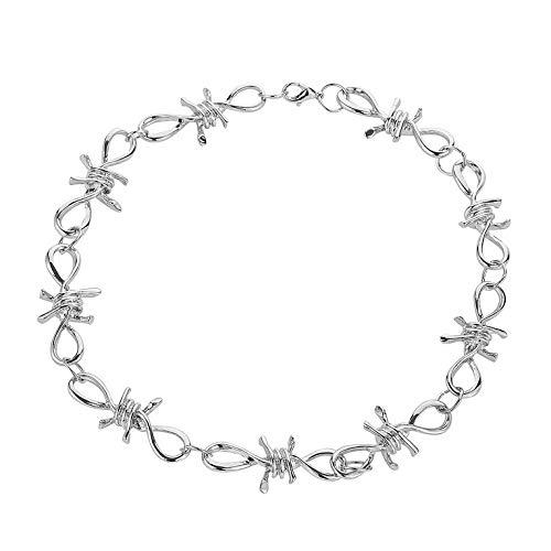#N/V Hip Hop Accessories - Collar de alambre de púas para mujer