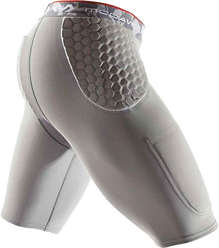 McDavid Basketball Padded Compression Shorts Girdle. 3 HEX Pads Padding. Hips and Tailbone Protection. Cup Pocket