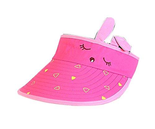 Kinder Sonnenschutz Hut Mädchen Mütze ohne Top 2-4 Jahre (Rose Red)