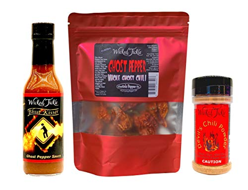 Ultimate Ghost Pepper Hot Sauce Gift Set Hot Spice Gift Pack Wicked Tickle