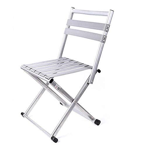 CHENDZ Chaise pliante pliante tabouret Mazar pliante portable mini épaississement extérieur dos chaise de pêche petit banc tabouret 32.5x26x57cm Chaise portable d'extérieur (Color : Gray)