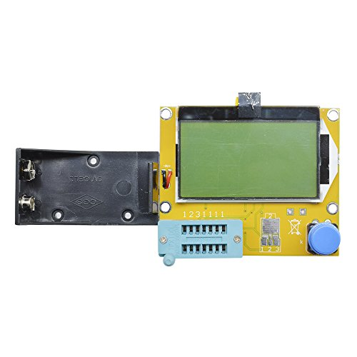 Aideepen Mega328 LCR-T4 Transistor Tester Diode Triode Capacitance LCR ESR Meter Module MOS PNP/NPN M328 (Battery Case)