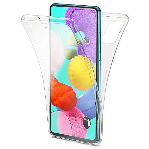 NALIA 360 Grados Case Compatible con Samsung Galaxy A51 Funda, Delgado Silicona Trasera & Delantera Carcasa Protectora Pantalla, Ultra-Fina Full-Cover Cubierta Integral Bumper Estuche - Tr