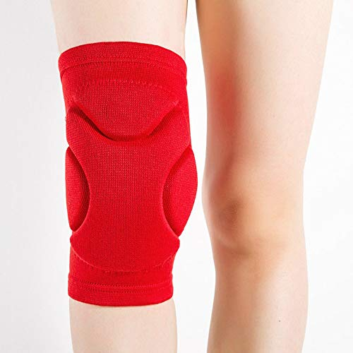 Collision Avoidance Knee Sleeve,Skating Scooter Skateboarding Snow Protective Knee Pads, Motocross Kneepads Protective Gear Mountain Bike Cycling Knee Protector Protection (Color : Red)