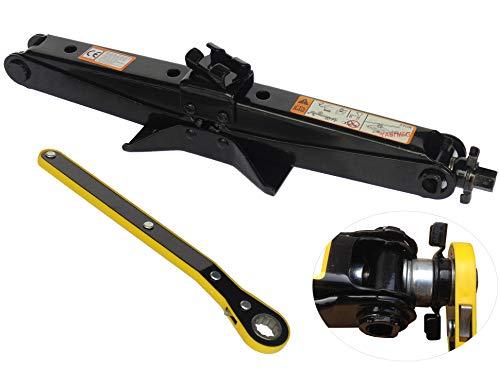 YASI MFG® 11-45CM 2T Scherenwagenheber Ratschenschlüssel mit Schwinghebel Steckschlüssel Wagenheber Scissor Jack