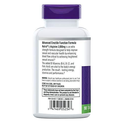 Natrol - L-アルギニン 3000 mg 90錠 [4125]