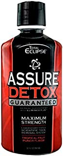 5 Pack - Total Eclipse Assure Detox W/eliminex Plus 32 Fl Oz Tropical Fruit Punch with Free Im Baked Bro and Doob Tubes Sticker