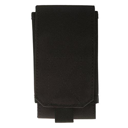 Pochette de Téléphone Cellulaire Nylon Sac Tactique Multifonction - Taille Unique , Noir