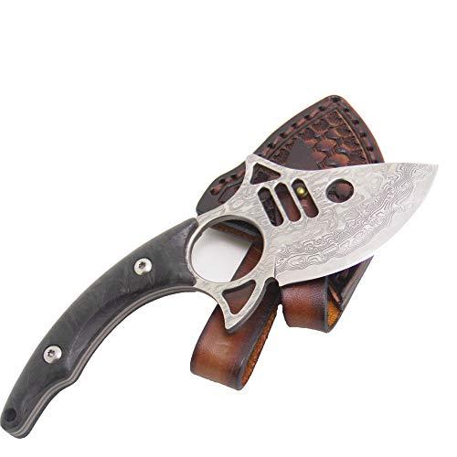 MASALONG Largemouth Shark Knife Damascus
