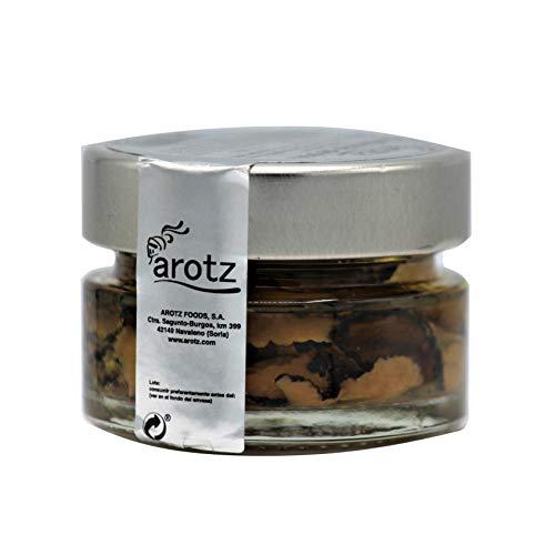 Carpaccio de trufa 50 g. Carpaccio Tuber aestivum láminas (60%) en aceite de oliva aroma trufa negra tuber magnatum (40%). Peso neto 30 g. Trufa laminada.…