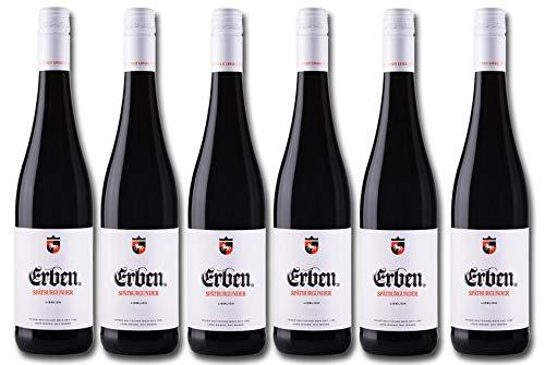 Erben Spätburgunder Lieblich – Rotwein aus Deutschland – Qualitätswein – 6 x 0.75 l