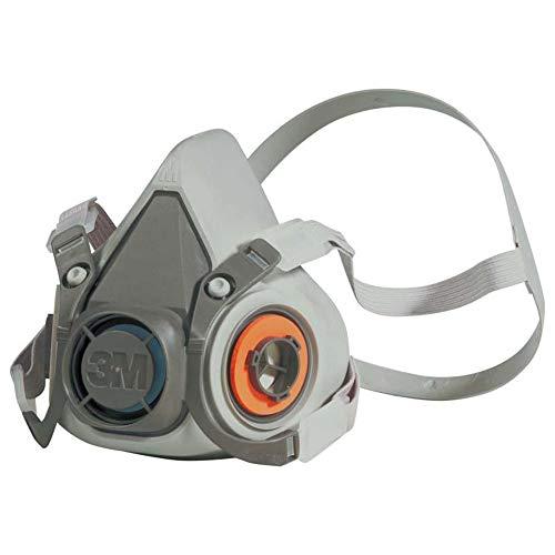 3M Mehrweg-Halbmaske 6300L (Maskenkörper ohne Filter), Größe L, Atemschutz, 1 Stück