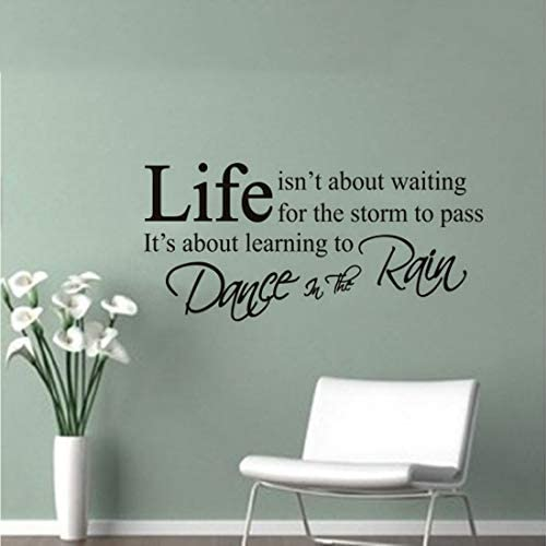 Inspirational Quotes Wall Decals Life Isn t About Waiting for The Storm to Pass It s Learning product image