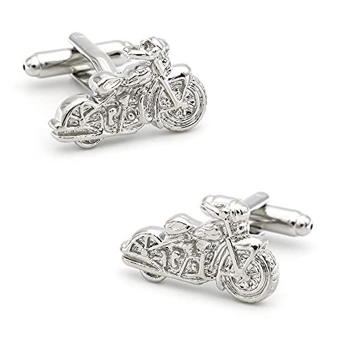 mdtep Fahrzeugdesign Motorrad Manschettenknöpfe Qualität Messingmaterial Silber Farbe Manschettenknöpfe