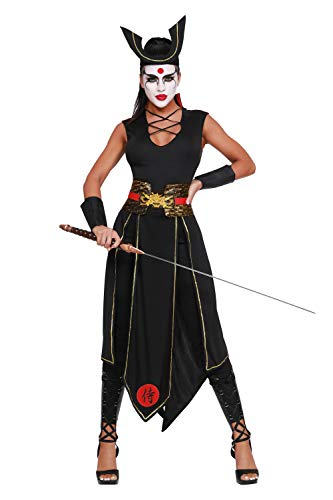 Dreamgirl Women's Samurai (W) Adult Costume, -Costume, Medium