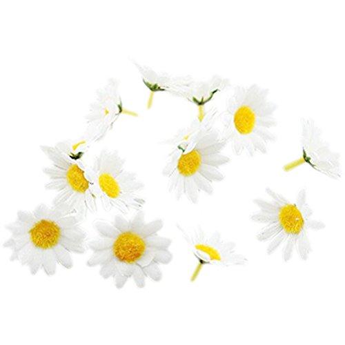 HABI 100Teile Gänseblümchen Kunstseide Kunstblumen Blüten Dekoration für Büro Haus & Die Party die Hochzeit