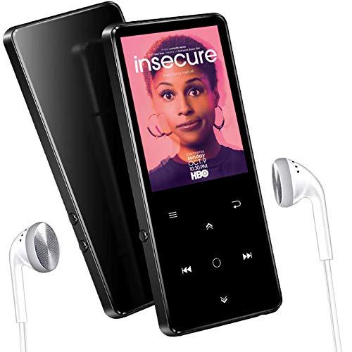 Lettore MP3 da 16 GB con Bluetooth 4.2, Supereye 2.4 Pollici Portatile Lossless Sound Lettore MP3, con Radio FM/Registratore Vocale, Pulsante di Tocco, Supporto Fino a 64GB,Cuffie Inclusi…