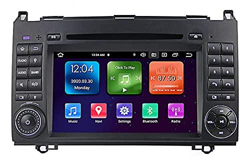 GPS 7 pollici 2-DIN Android 10.0 Navigazione GPS per auto nel cruscotto per Mercedes Benz Classe B B200 W245 2005-2012 Supporto CD Lettore DVD Radio FM AM Car Audio Radio Stereo DSP integrato Car