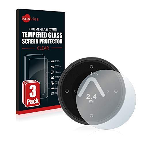 Savvies Panzerglas kompatibel mit Beeline Moto (3 Stück) - Echt-Glas, 9H Festigkeit, Anti-Fingerprint