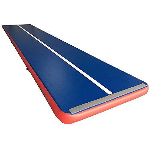 Hinchable de gimnasia sinolodo aire secadora pista (S2) práctica, formación, gimnasia, alfombra, easy-to-inflate Tumbling | resistente | uso en interior y exterior | las niñas, niños, azul, red