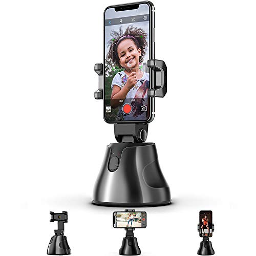 Selfie Stick,Prosvet 360° Rotation Auto Face&Object Tracking Live Broadcast Streaming Smart Shooting Camera Phone Mount,Cature 360°Camera Men Selfie Mount Auto Countdown for All Cellphone(Black)
