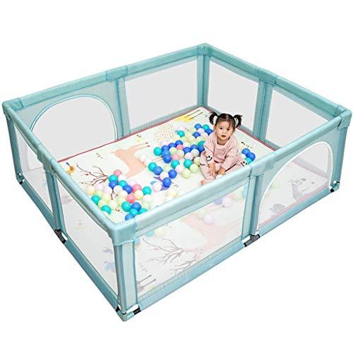 Erweiterbare oder an der Wand montiert Wiedergabe Yard Versatile Spielraum der Easy & Quick Assembly bewegliche faltbare Babyplaypen (Color : Blue, Size : D)