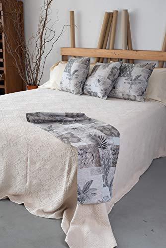 Esse Home – Copriletto Matrimoniale Primavera Estate – 100% Cotone - Stone Wash – Prodotto Artigianale - Minerva (260X260, Beige)