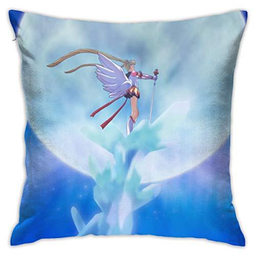 CVDGSAD Sailor Moon Anime Girls Wings Anime - Funda de cojín rectangular para niña (tamaño Queen