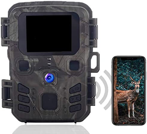 CAMVILD WiFi Trail Camera 24MP 1296P HD Upgraded Bluetooth Mini Game Camera with Night Vision product image