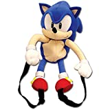 GE Animation Sonic Classic Sonic Plush Backpack Multi-colored, 19