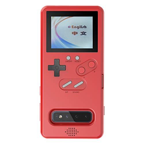 Game Case for Samsung S10, Retro Gameboy Case with 36 Small Games, Playable Game Case for Samsung S10 (Red)