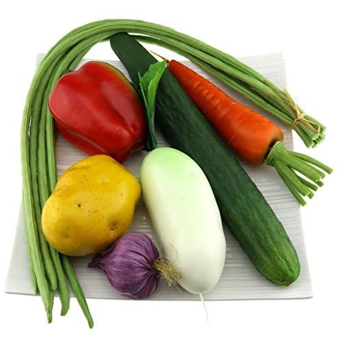 Gresorth Fälschung Gemischt Gemüse Künstlich Pfeffer Gurke Bohne Karotte Knoblauch Kartoffel Küche Dekoration