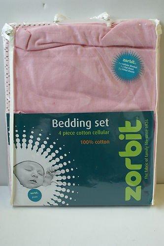 Zorbit matrasbeschermers kinderwagen balset (Pink, 4 stuks)
